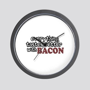 Tastes Better with Bacon Wall Clock