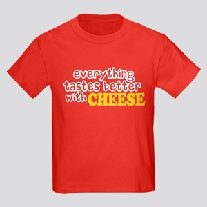 Tastes Better with Cheese Kids Dark T-Shirt