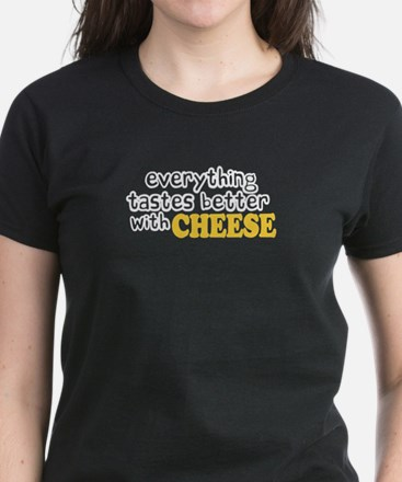 Tastes Better with Cheese Women's Dark T-Shirt