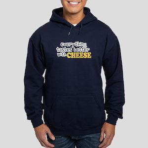Tastes Better with Cheese Hoodie (dark)