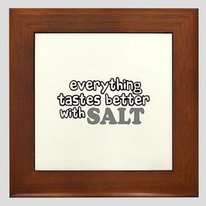 Tastes Better with Salt Framed Tile