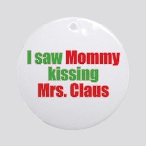 Gay Christmas Ornament (Round)