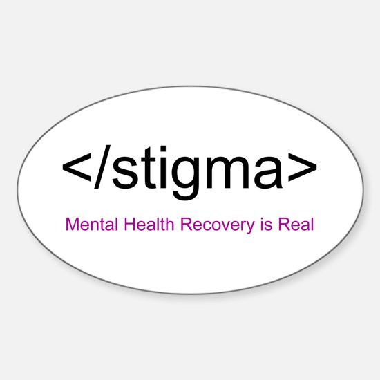 End Stigma HTML Sticker (Oval)