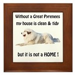 Great Pyrenees Framed Tile Clean and Tidy