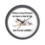 Great Pyrenees Wall Clock Clean and Tidy