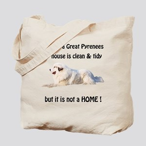Great Pyrenees Tote Bag Clean and Tidy