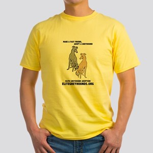 Elite Greyhound Adoption Yellow T-Shirt