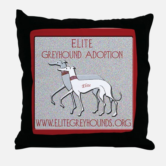 Elite Greyhound Throw Pillow