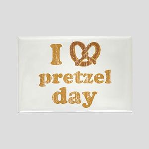 I Pretzel Pretzel Day Rectangle Magnet