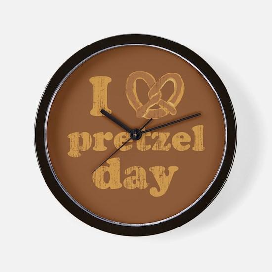 I Pretzel Pretzel Day Wall Clock
