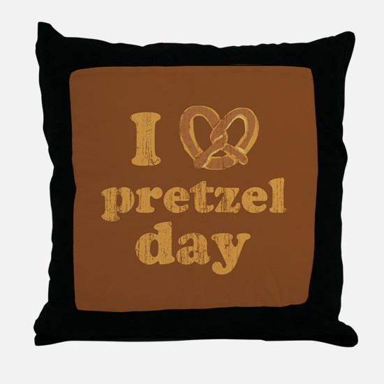 I Pretzel Pretzel Day Throw Pillow