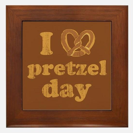 I Pretzel Pretzel Day Framed Tile