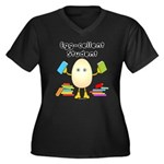 Egg-cellent Student Women's Plus Size V-Neck Dark
