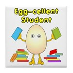 Egg-cellent Student Tile Coaster