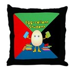 Egg-cellent Student Throw Pillow