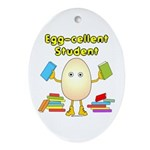 Egg-cellent Student Oval Ornament
