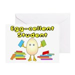 Egg-cellent Student Greeting Card
