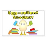 Egg-cellent Student Rectangle Sticker