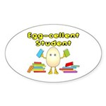 Egg-cellent Student Oval Sticker
