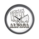 Alpaca 4 Line Wall Clock