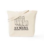 Alpaca 4 Line Tote Bag
