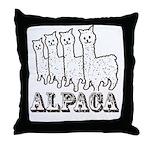 Alpaca 4 Line Throw Pillow