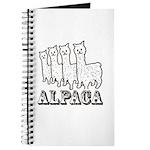 Alpaca 4 Line Journal