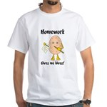 Homework White T-Shirt