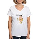 Homework Women's V-Neck T-Shirt