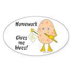 Homework Sticker (Oval)