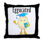 Eggucated Throw Pillow
