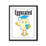 Eggucated Framed Panel Print