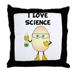 Love Science Throw Pillow