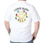 Love Math Back Image Golf Shirt