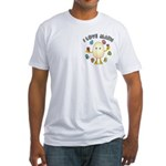 Love Math Pocket Image Fitted T-Shirt