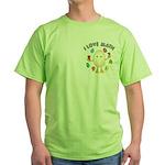 Love Math Pocket Image Green T-Shirt