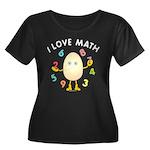 Love Math Women's Plus Size Scoop Neck Dark T-Shir