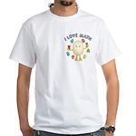 Love Math Pocket Image White T-Shirt