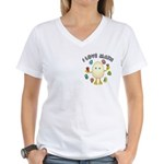 Love Math Pocket Image Women's V-Neck T-Shirt