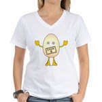 Grade A Egghead Women's V-Neck T-Shirt
