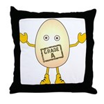 Grade A Egghead Throw Pillow