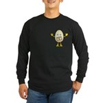 Grade A Egghead Pocket Image Long Sleeve Dark T-Sh