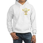 Grade A Egghead Pocket Image Hooded Sweatshirt