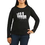 Alpaca 4 Black & White Women's Long Sleeve Dark T-
