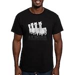 Alpaca 4 Black & White Men's Fitted T-Shirt (d