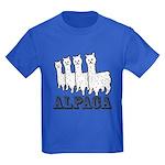 Alpaca 4 Black & White Kids Dark T-Shirt