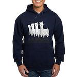 Alpaca 4 Black & White Hoodie (dark)