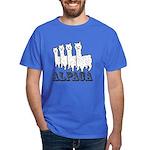 Alpaca 4 Black & White Dark T-Shirt