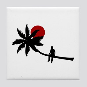 Palm Boy Sun Tile Coaster