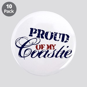 """Proud of my Coastie 3.5"""" Button (10 pack)"""